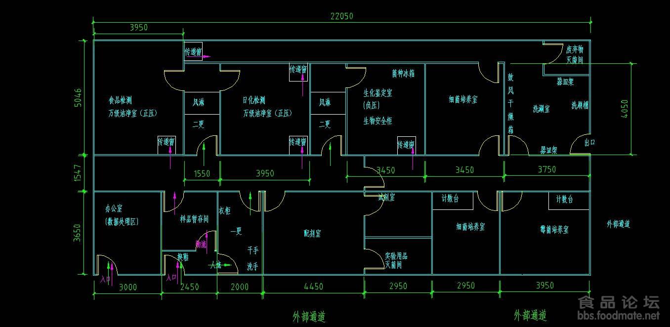 微生物实验室布局图  传一份微生物实验室设计图纸